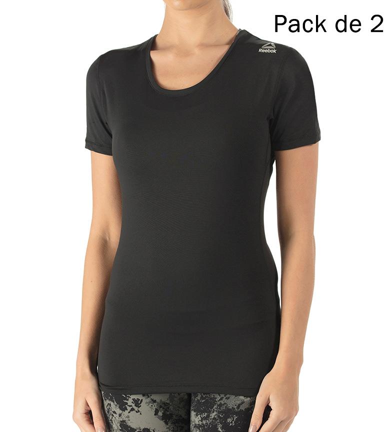 Comprar Reebok Pack de 2 t-shirts Joanna noir
