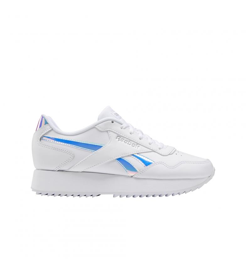 Comprar Reebok Royal Glide Ripple Double baskets en cuir blanc, bleu