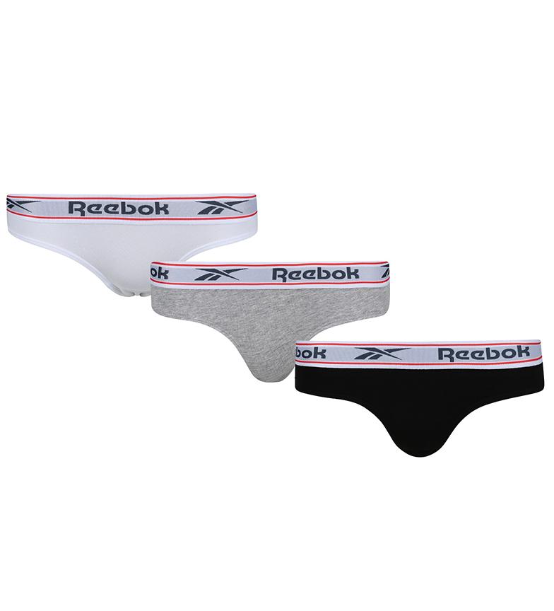 Comprar Reebok Pack de 3 Braguitas Aria negro, blanco, gris