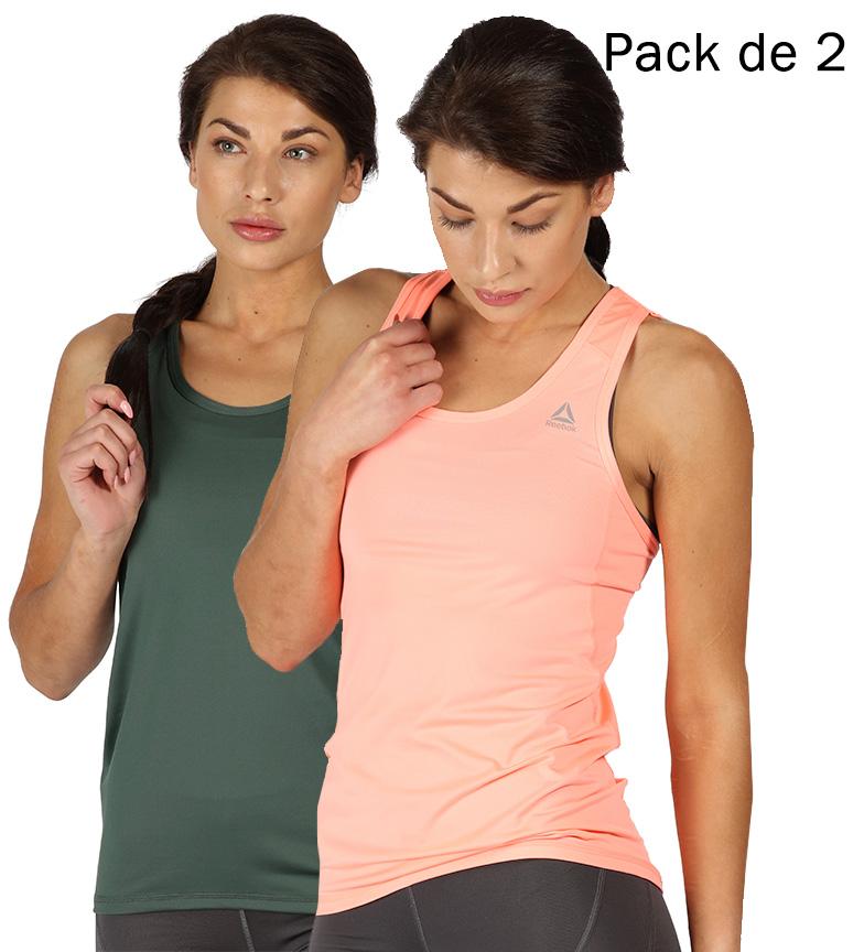 2 Camisetas CoralVerde Romy Pack De Reebok LqSzpGUMV