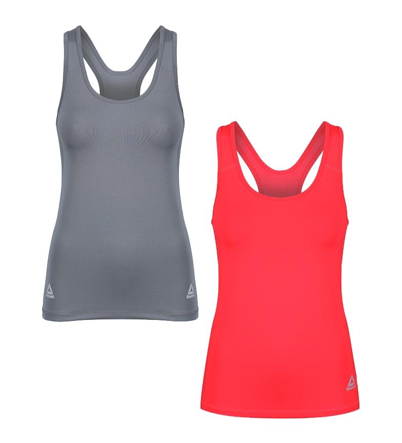 Comprar Reebok Pacote de 2 camisas desportivas Romy cinza, rosa vivo