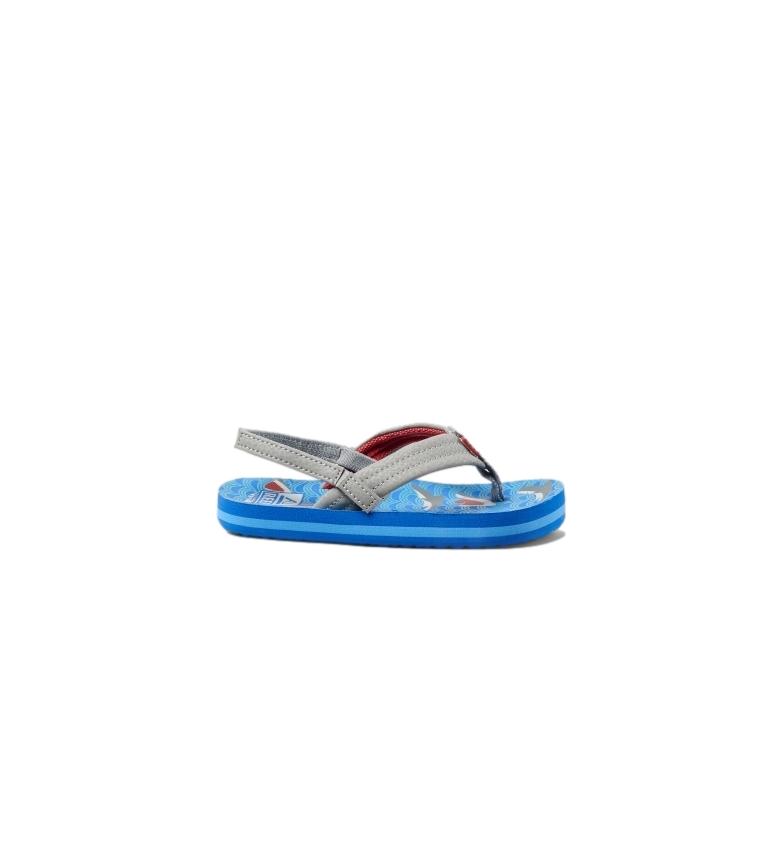 Comprar Reef Flip flops K Little Ahi Shark blue, grey