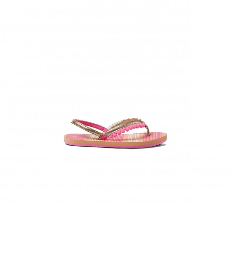 Comprar Reef Little Pom Pom pink flip flops