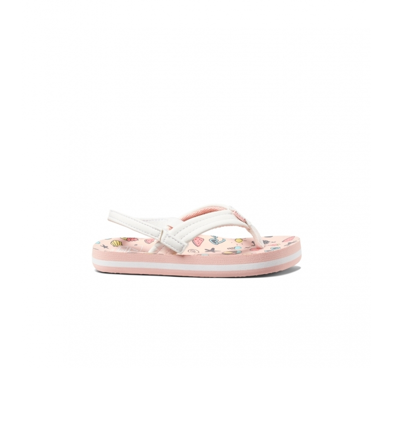 Comprar Reef Flip flops K Little Ahi Summatime pale pink, white