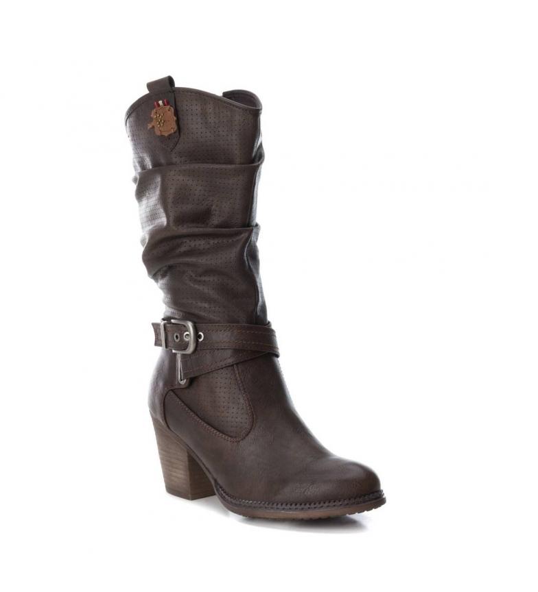 Donna Marrone Tacco Altezza Cm Nero Refresh Stivale Cowboy 6 Tacco 064775 7awWzqv