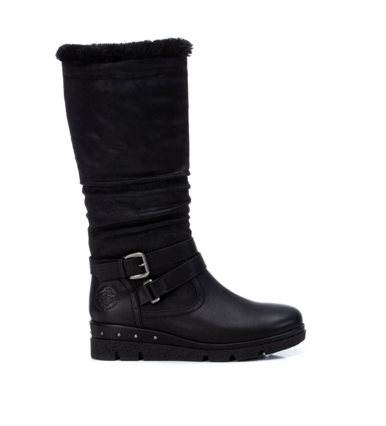 Comprar Refresh Boots 072411 black - wedge height: 4 cm