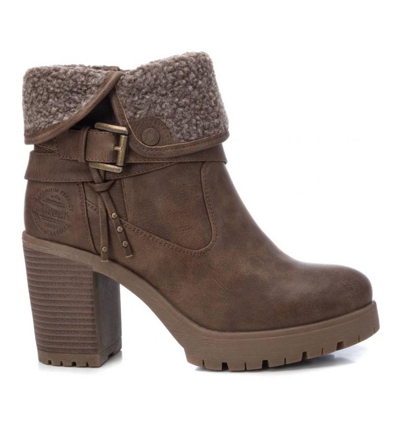 Comprar Refresh Botas de tornozelo 072578 taupe - Altura do calcanhar: 8cm
