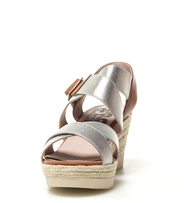 Xti-Sandalo-Elvia-argento-Altezza-cuneo-7-5-cm-Donna-Rosa-Bronzo-Oro miniatura 4