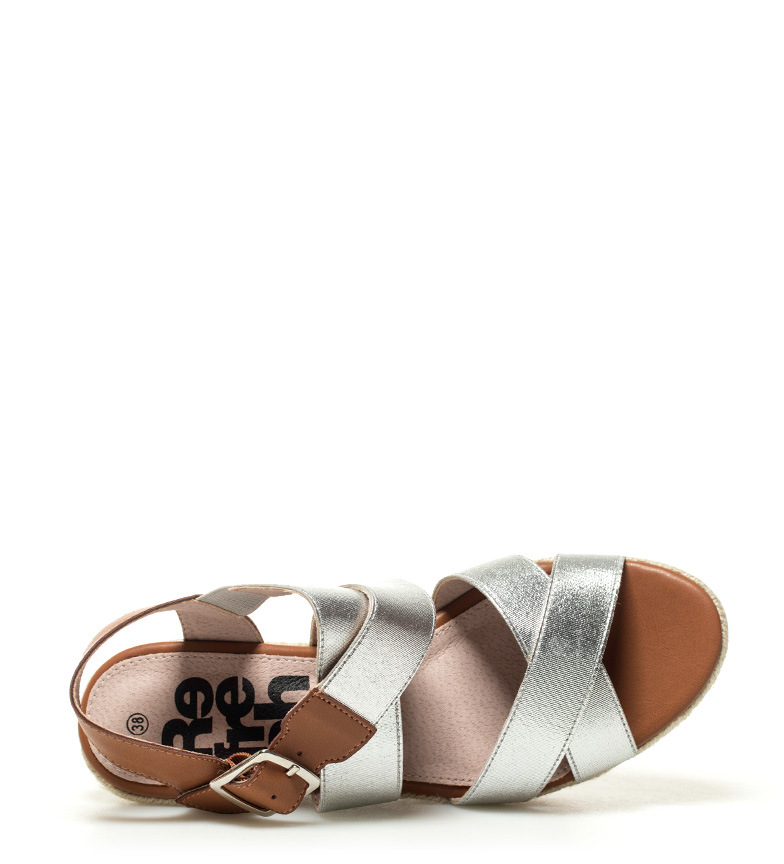 Xti-Sandalo-Elvia-argento-Altezza-cuneo-7-5-cm-Donna-Rosa-Bronzo-Oro miniatura 7