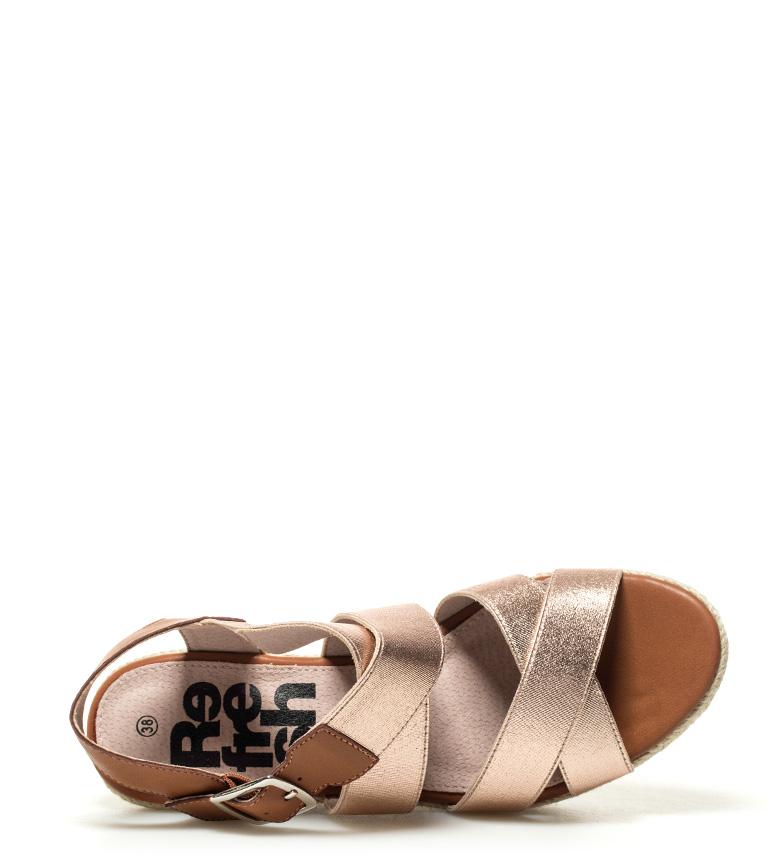 Xti-Sandalo-Elvia-argento-Altezza-cuneo-7-5-cm-Donna-Rosa-Bronzo-Oro miniatura 14