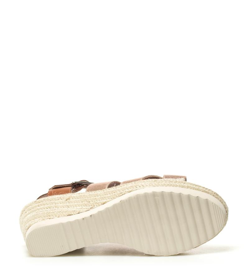 Xti-Sandalo-Elvia-argento-Altezza-cuneo-7-5-cm-Donna-Rosa-Bronzo-Oro miniatura 15