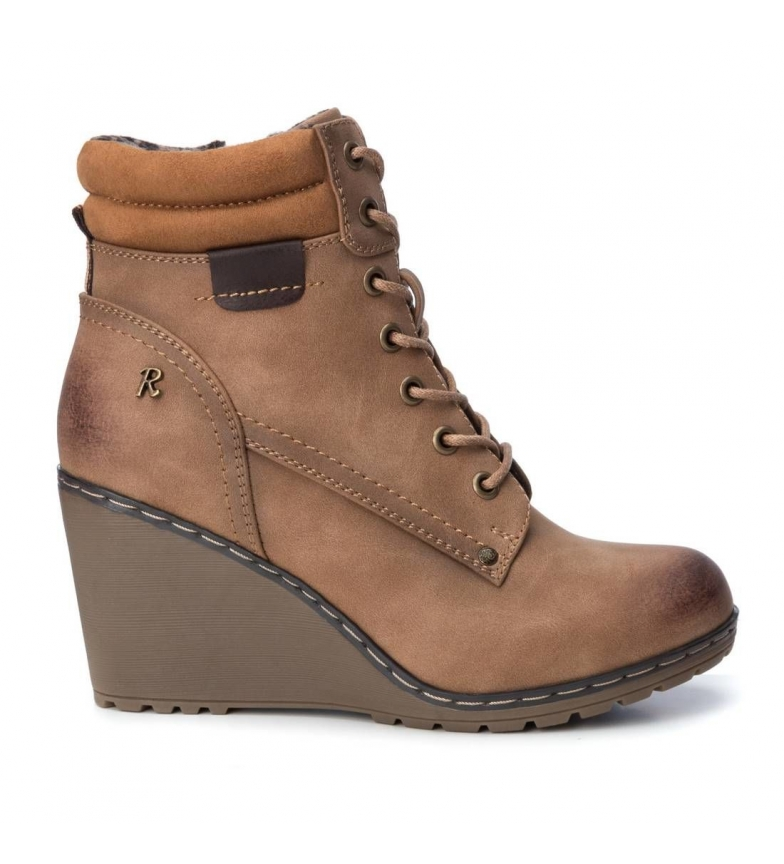 Comprar Refresh 39365 camel boots - Wedge height: 8cm