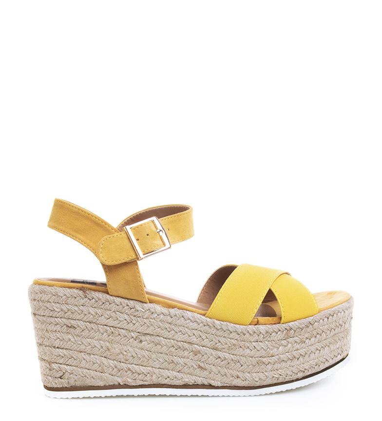 Comprar Refresh Sandálias Angela yellow - Altura da cunha: 9cm
