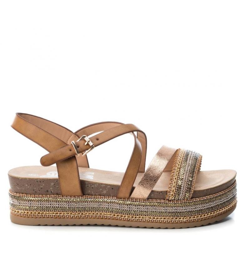 Comprar Refresh Sandals Nerea camel - Platform height: 5cm