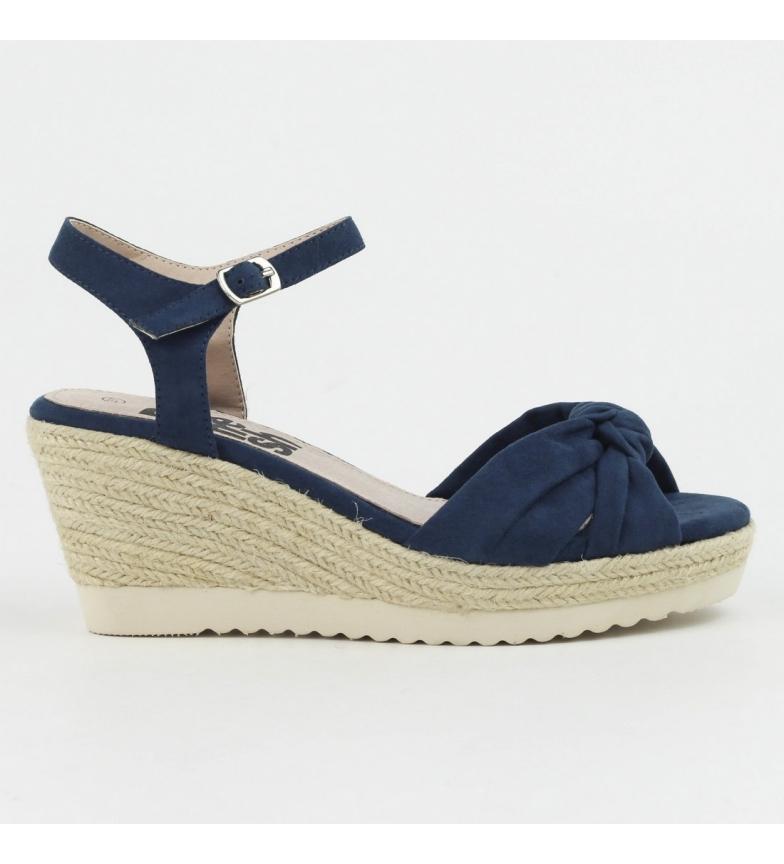 Sandalia cuña jeans 063271 Refresh yute dqPYd8