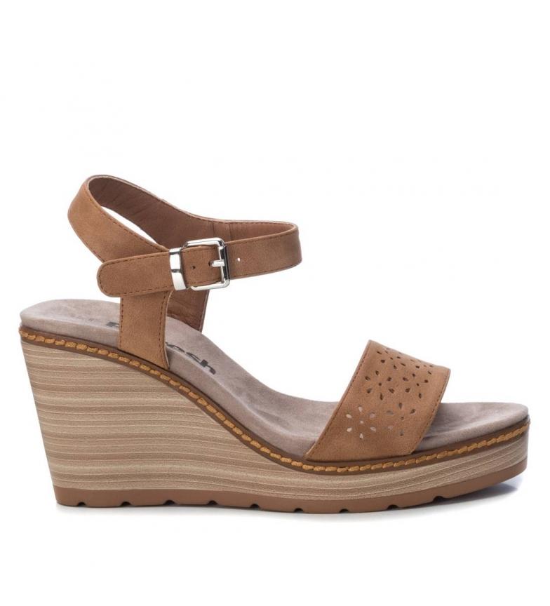 Comprar Refresh Sandálias 069486 marrom - altura da cunha: 9cm