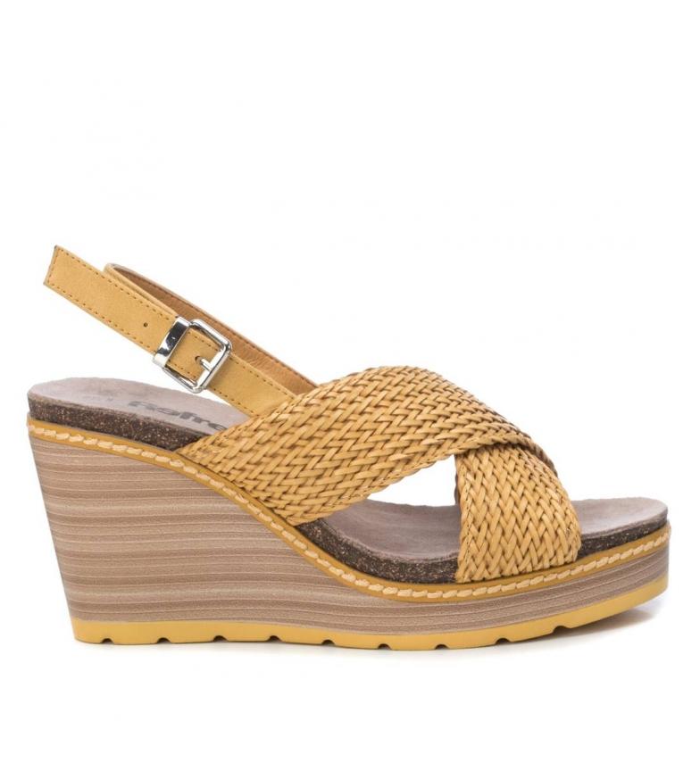 Comprar Refresh Sandalias 069489 amarillo -altura cuña: 9cm-
