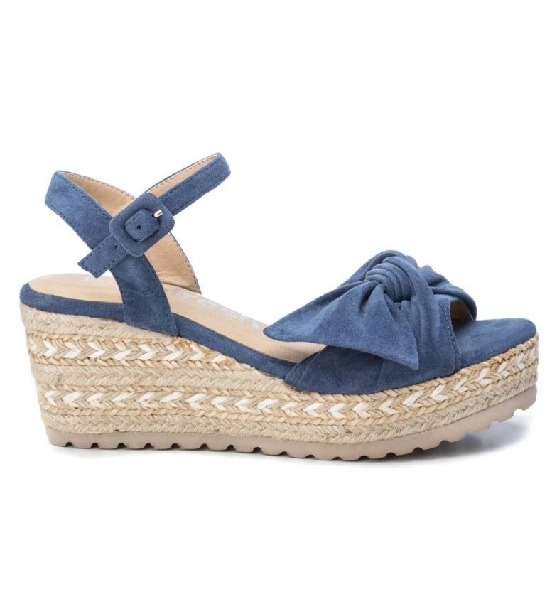 Comprar Refresh Sandálias 069531 azul - altura da cunha: 7cm