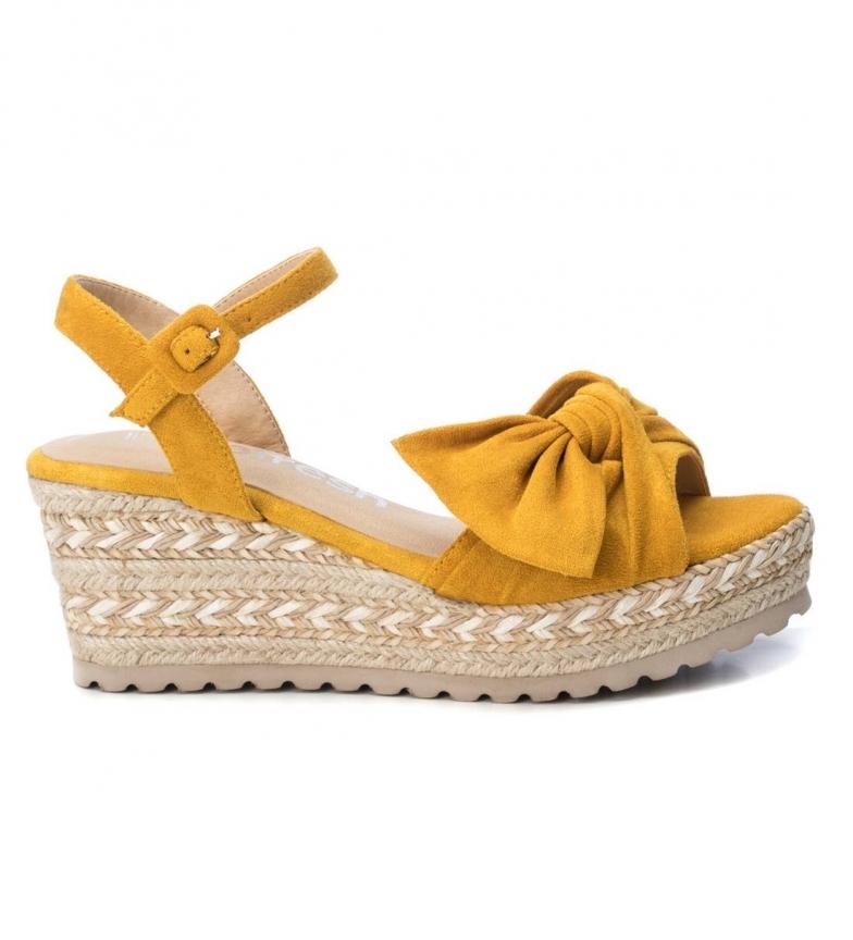 Comprar Refresh Sandálias 069531 amarelo - altura da cunha: 7cm