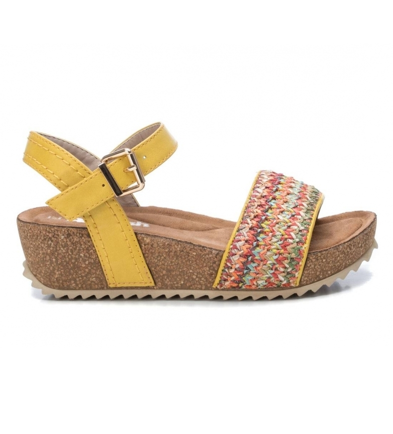 Comprar Refresh Sandalias 069610 amarillo -Altura cuña + plataforma: 5cm-