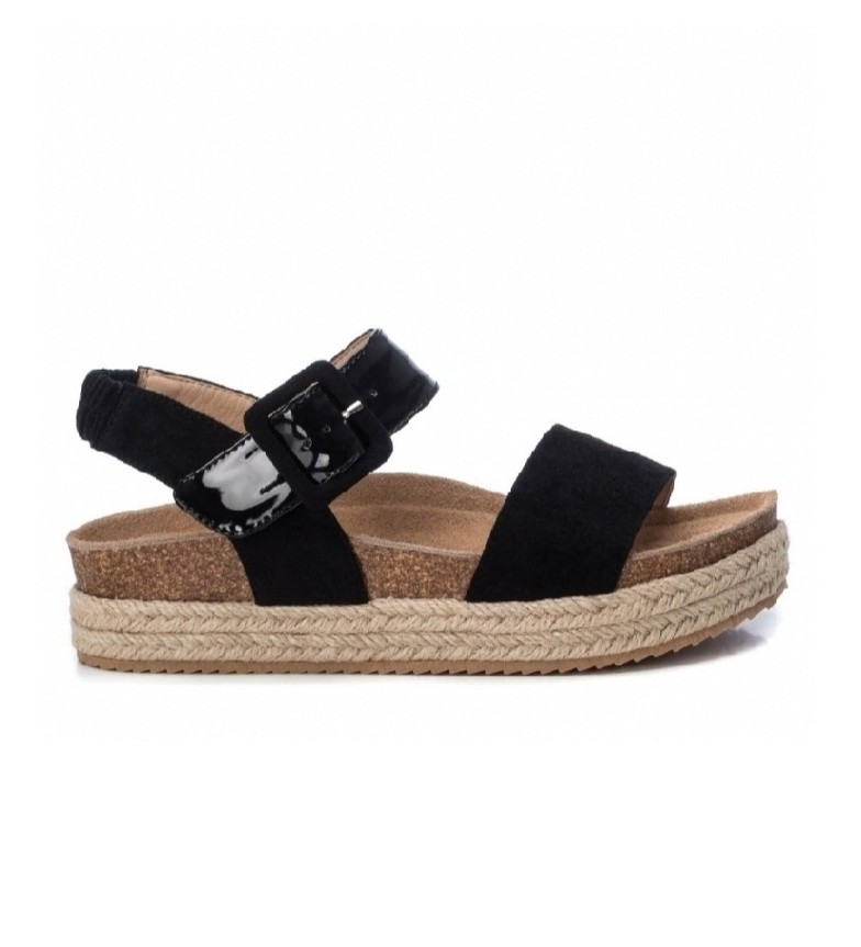 Comprar Refresh Sandales 069647 noir - Hauteur de la plate-forme :  4cm