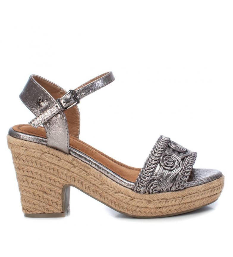 Comprar Refresh Sandalias 069679 gris -Altura tacón + plataforma: 10cm-
