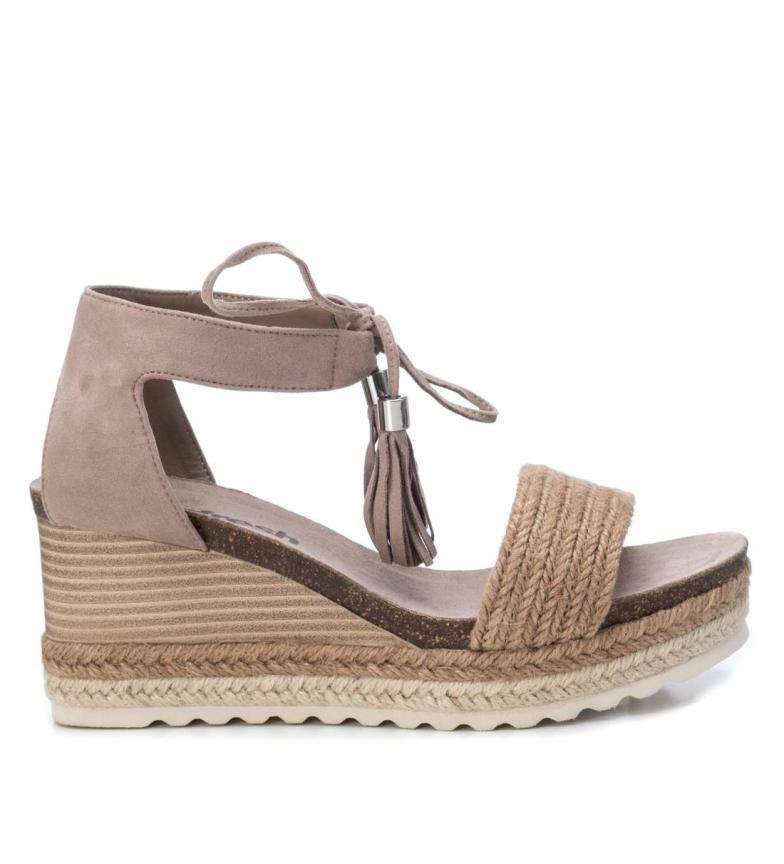 Comprar Refresh Sandálias 072201 marrom - altura da cunha: 8cm