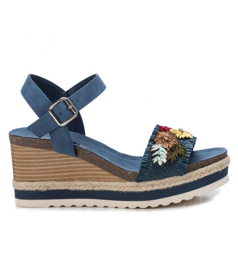 Comprar Refresh Sandálias 072203 azul -Altura da cunha: 8 cm