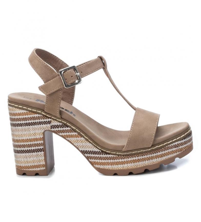 Comprar Refresh Sandálias 072212 marrom - altura da cunha: 10cm