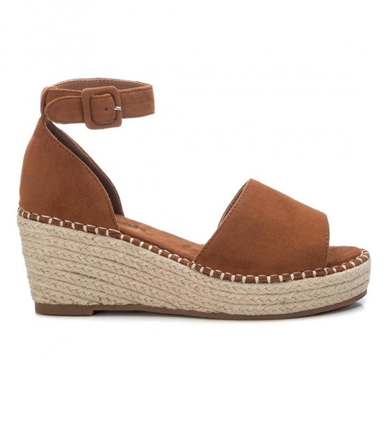 Comprar Refresh Sandálias 072694 camelo -Cunha de altura: 8cm