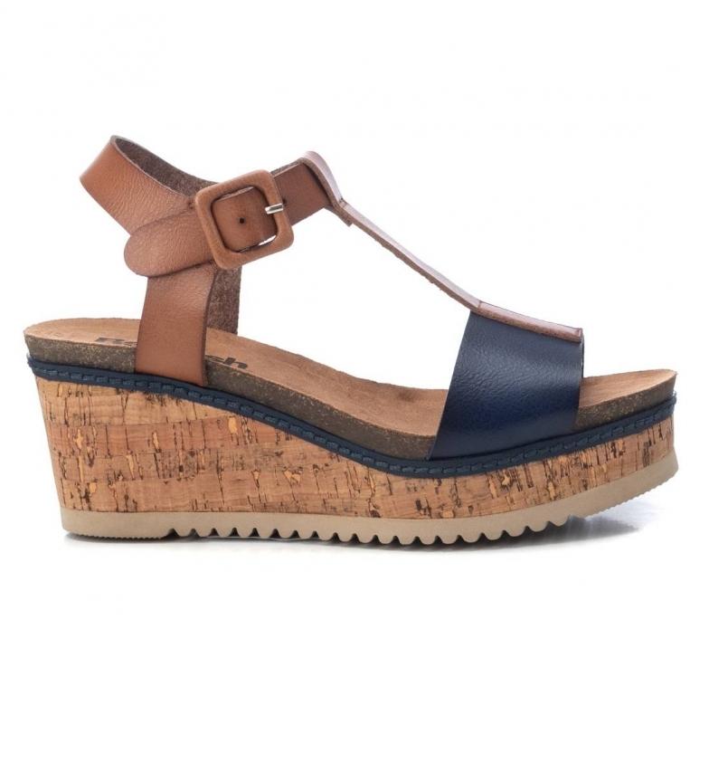 Comprar Refresh Sandálias Cortiça 072705 azul -Altura Cunha: 7cm- -Largadas: 7cm- -Largadas: 7cm- -Altura: 7cm- -Altura: 7cm- -Altura: 7cm-
