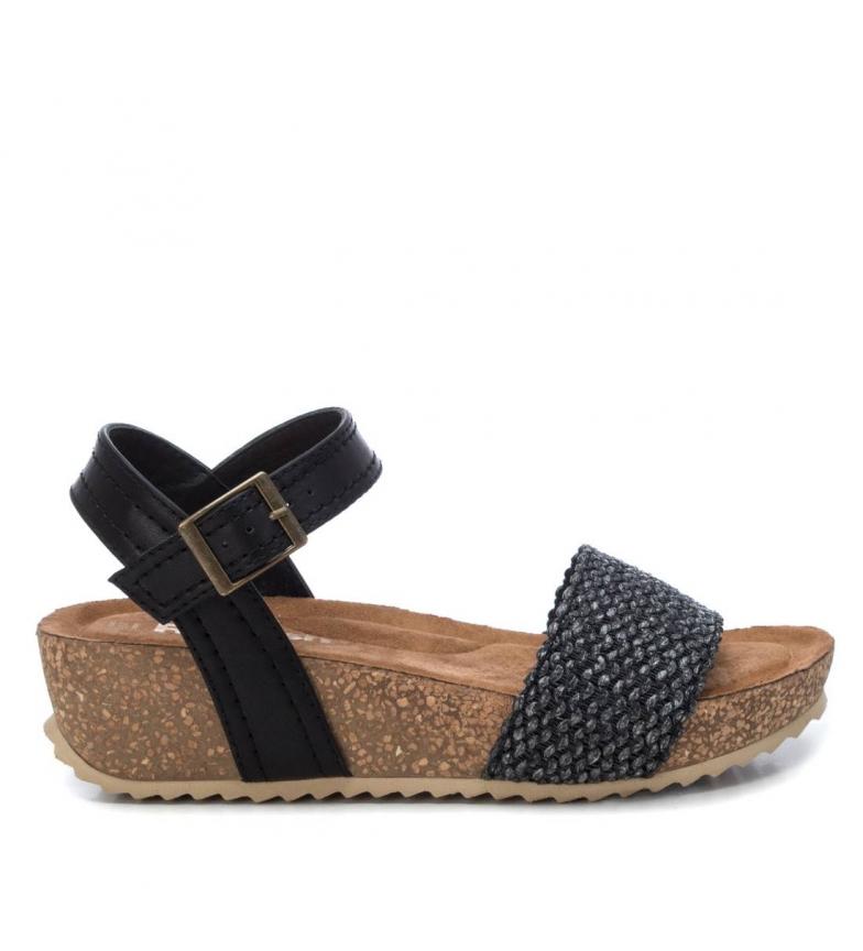 Comprar Refresh Sandálias 072259 preto - altura da cunha: 4cm