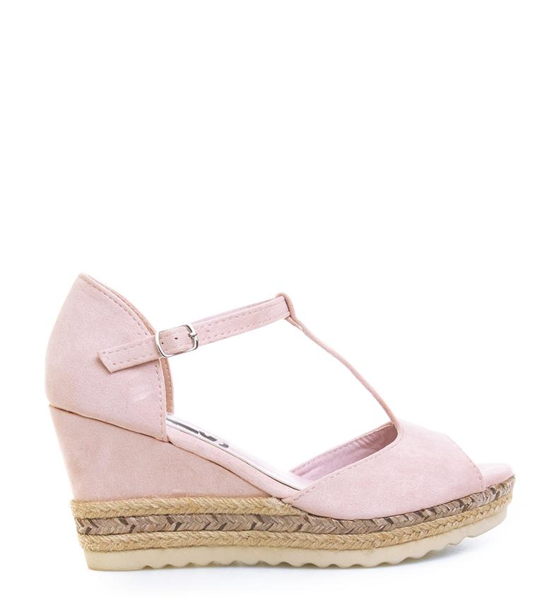 Comprar Refresh Sandals wide wedge jute 069810 ice - Wedge height: 8cm