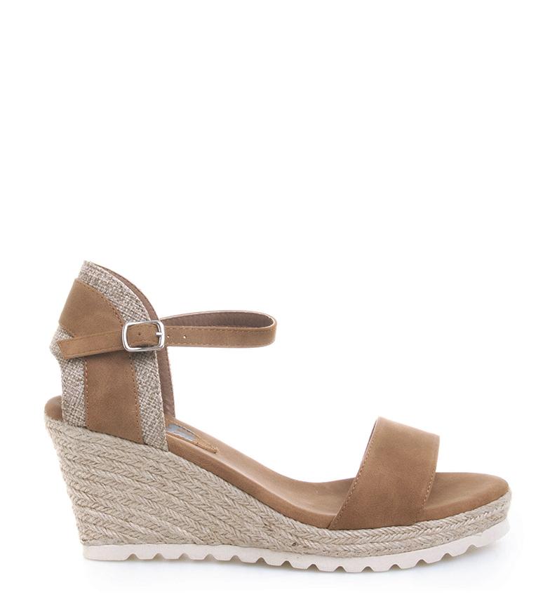 Comprar Refresh Sandals Ronda camel - Wedge height: cm