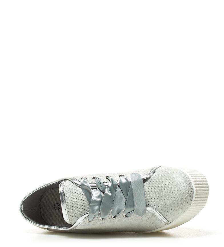 Refresh Ilsa Altura II 9cm Zapatillas plata cuña U67UCx