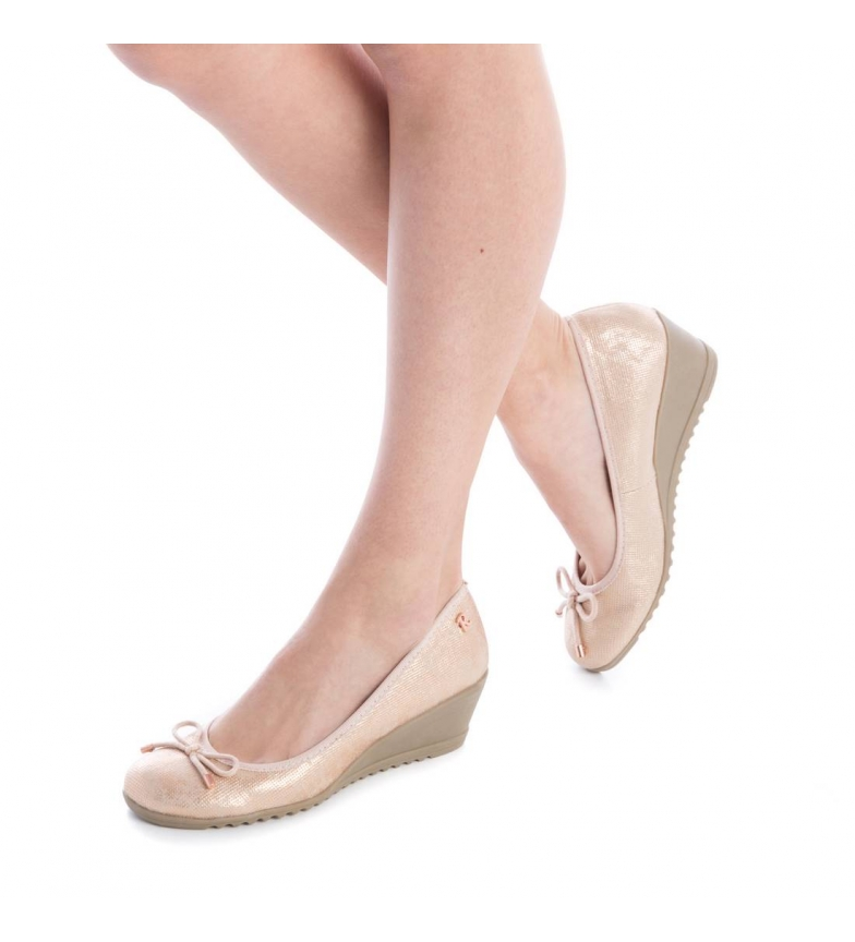 Refresh Zapatos cuña nude
