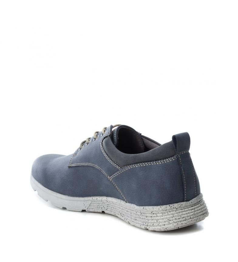 Refresh Lacets Chaussure Bleu 064496nav De Homme Plat Sport Marine Noir Casuel rZzqr