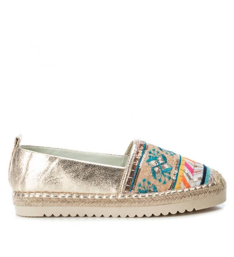 Comprar Refresh Zapatos plano yute 069777 oro