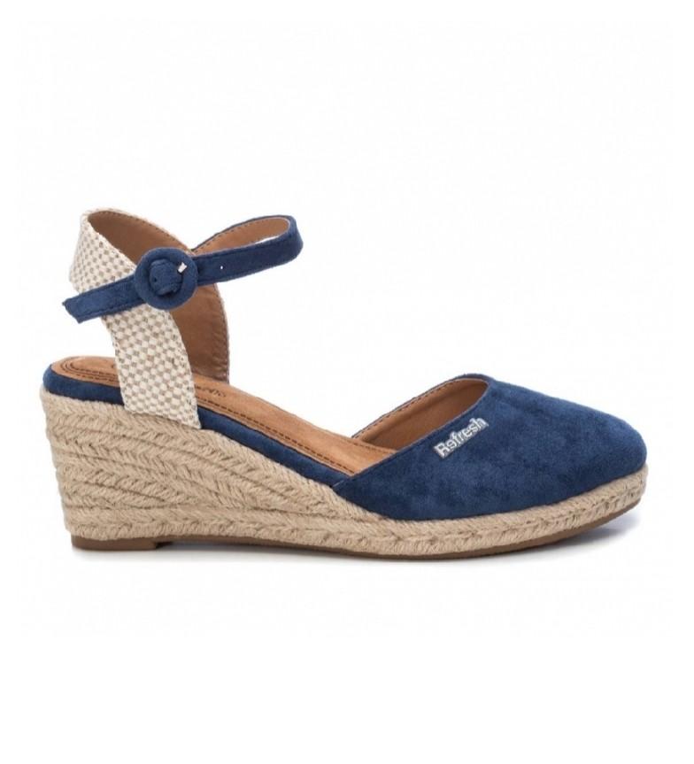 Comprar Refresh Sandálias 069569 azul - altura da cunha: 7cm