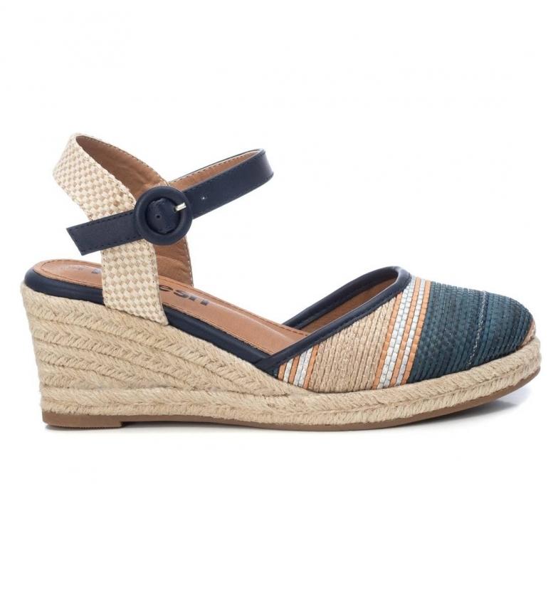 Comprar Refresh Espadrilles shoes 072849 denim -Wedge height: 7cm- -Weel height: 7cm- -Weel height: 7cm- -Weel height: 7cm-