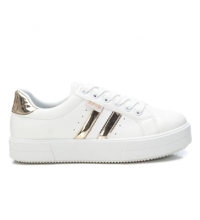 Refresh Sneakers 072863 bianco, oro