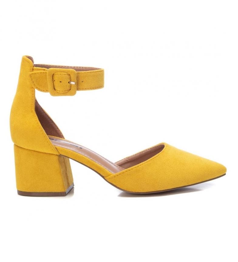 Refresh Sapatos 072865 amarelo - Altura do calcanhar: 6cm