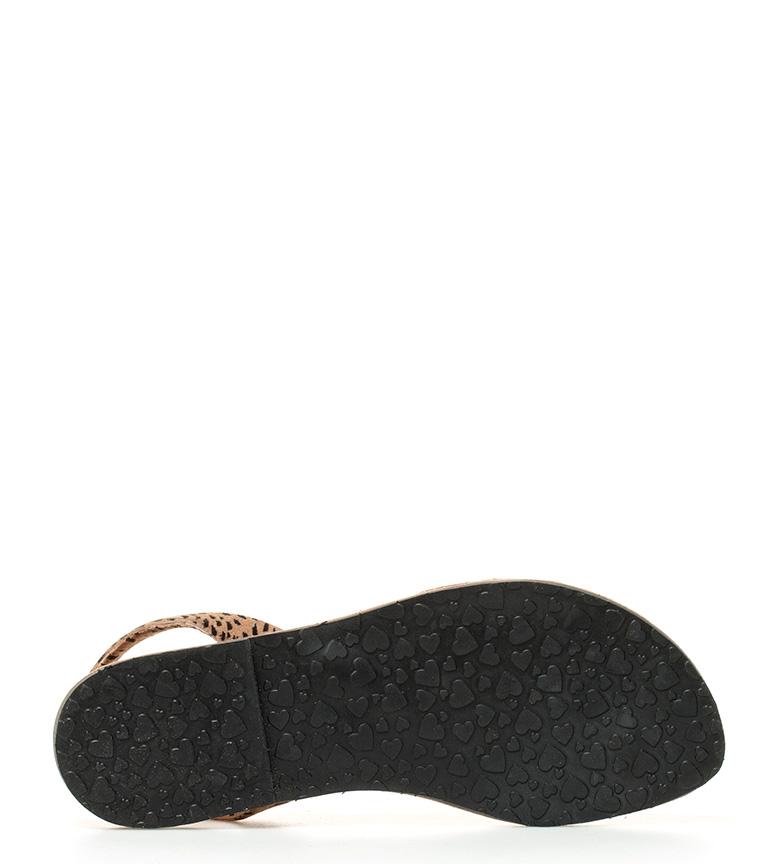 Altura negro de Menorca 8cm cuña Ria piel Avarcas wqzR4W1v