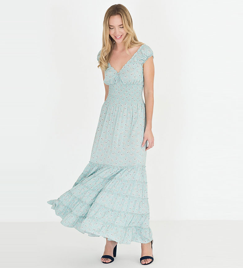 Riverside Vestido Abeja azul