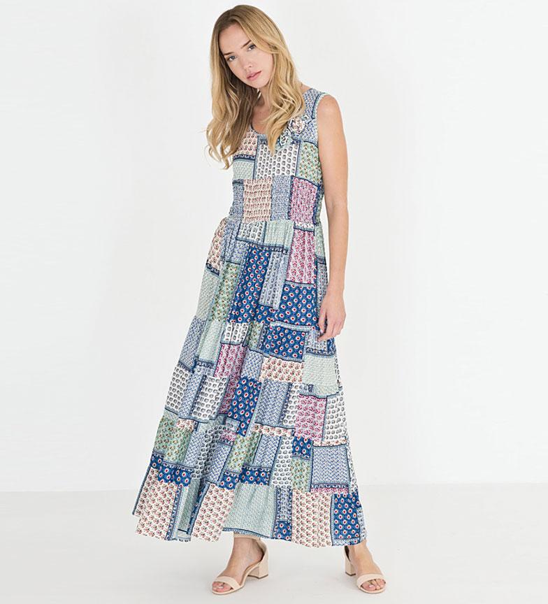 Riverside Vestido Garrapata multicolor