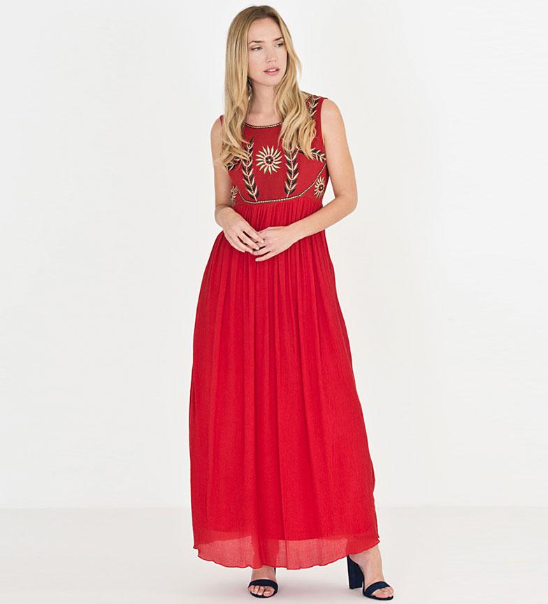 Riverside Vestido Termita rojo