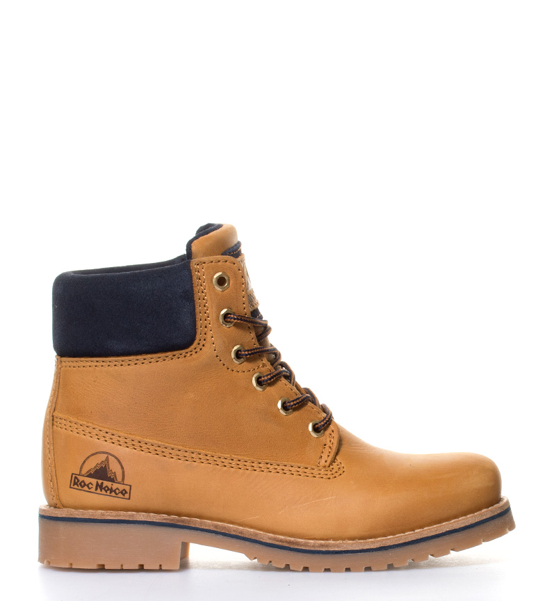 Comprar Roc Neige Grandes bottes en cuir cheval moutarde, bleu marine