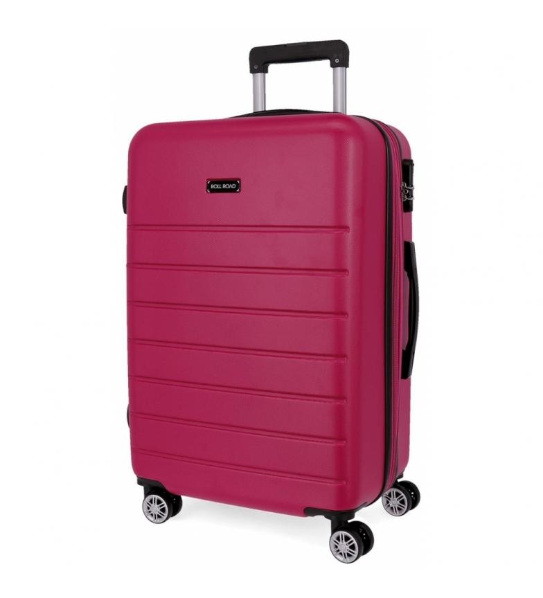 Comprar Roll Road Large rigid suitcase Roll Road Magazine fuchsia -51x76x29 cm