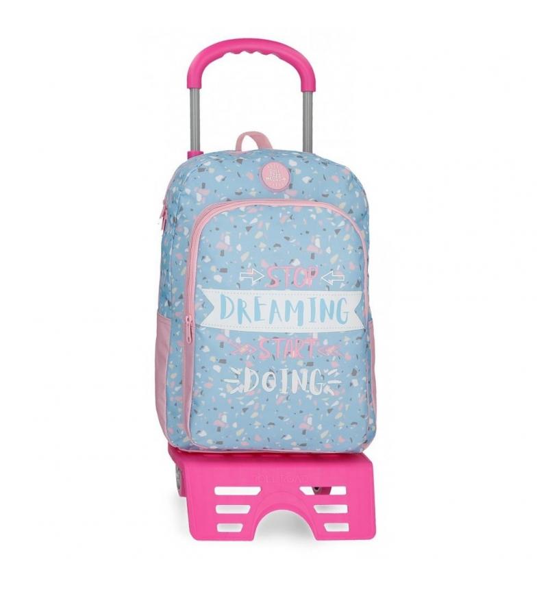 Comprar Roll Road Sac à dos pour l'école avec Roll Road Dreaming trolley -30x40x13 cm