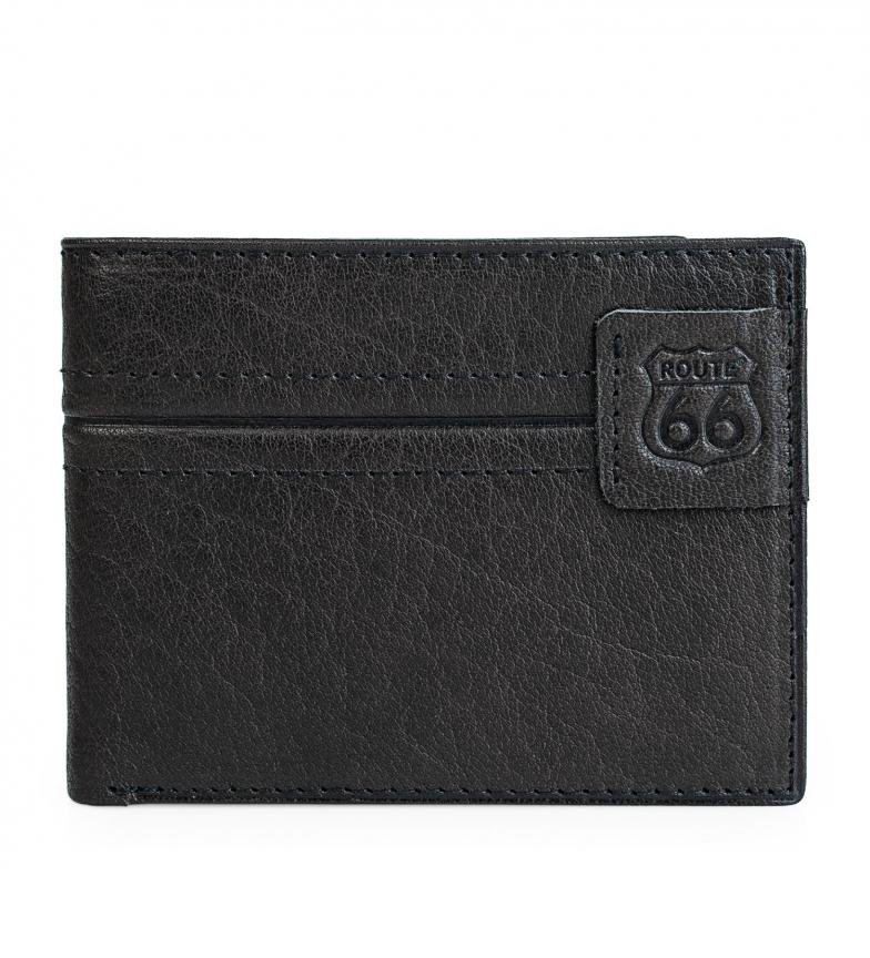 Comprar ROUTE 66 Portefeuille en cuir Route 66 noir -11,5x9cm